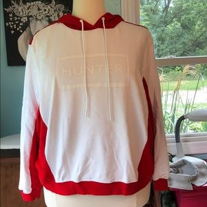 NWT HUNTER FOR TARGET RED/WHITE HOODIE 3X